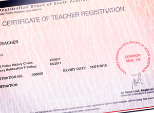 Certificate of Teacher Registration
