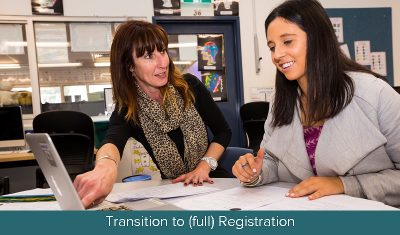 Transition from Provisional to (full) Registration